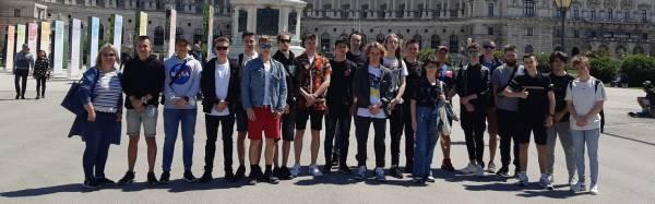 Nasi uczniowie na stażu w Wiedniu