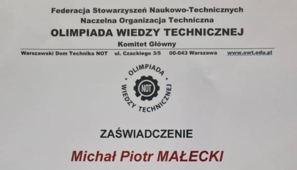 Olimpiada Wiedzy Technicznej